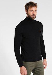 Farah - GOSFORTH ROLL NECK EXTRA  - Stickad tröja - dark asphalt marl - 0