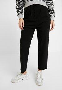 Urban Classics - LADIES HIGH WAIST CROPPED - Trousers - black - 0