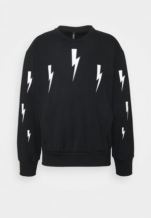 HALO BOLTS LIGHT - Long sleeved top - black/white