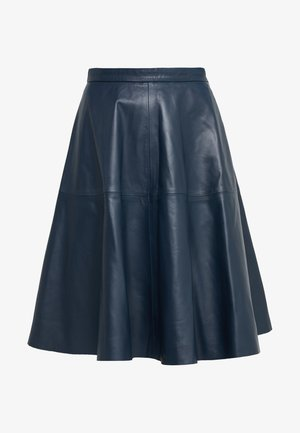 HANNAH LEATHER SKIRT - A-line skirt - dark blue