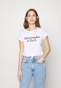 Abercrombie & Fitch - COOL GIRL LOGO TEE - Print T-shirt - white - 0