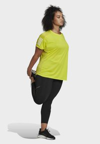 adidas Performance - OWN THE RUN PRIMEGREEN RUNNING - Print T-shirt - Yellow - 1