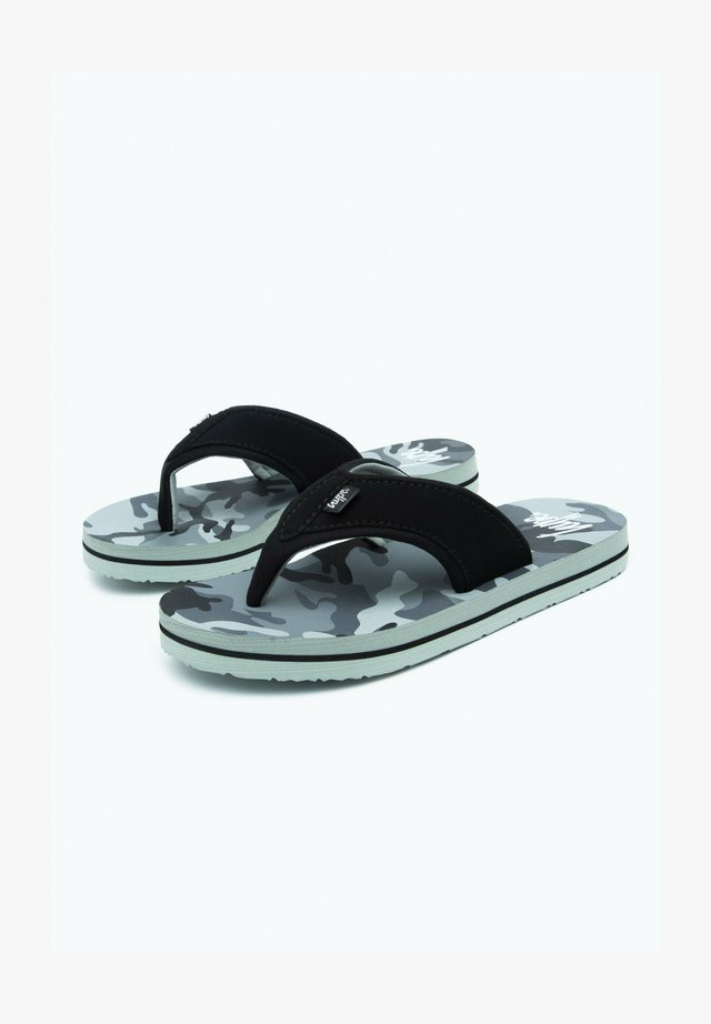CIVIL CAMO - Pool shoes - black/white