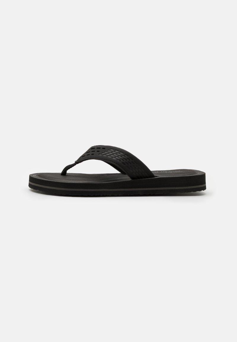Skechers - TOCKER - T-bar sandals - black/gray