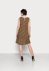 Opus - WENOLA ABSTRACT - Day dress - black/brown - 2