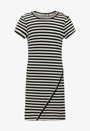 Pletené šaty - black/off-white