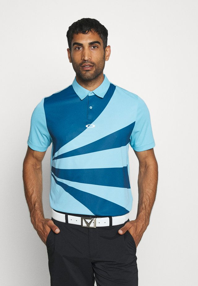GEOMETRIC SWING - Polo shirt - interstellar blue
