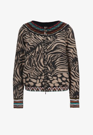 ANIMAL PATTERN - Bomber Jacket - black