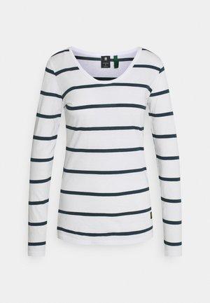 CORE EYBEN SLIM - Langarmshirt - milk/vintage navy stripe