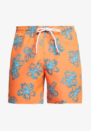 FLORAL SWIM SHORTS - Plavky - orange