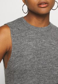 JDY - JDYELANOR VEST - Top - dark grey melange - 5