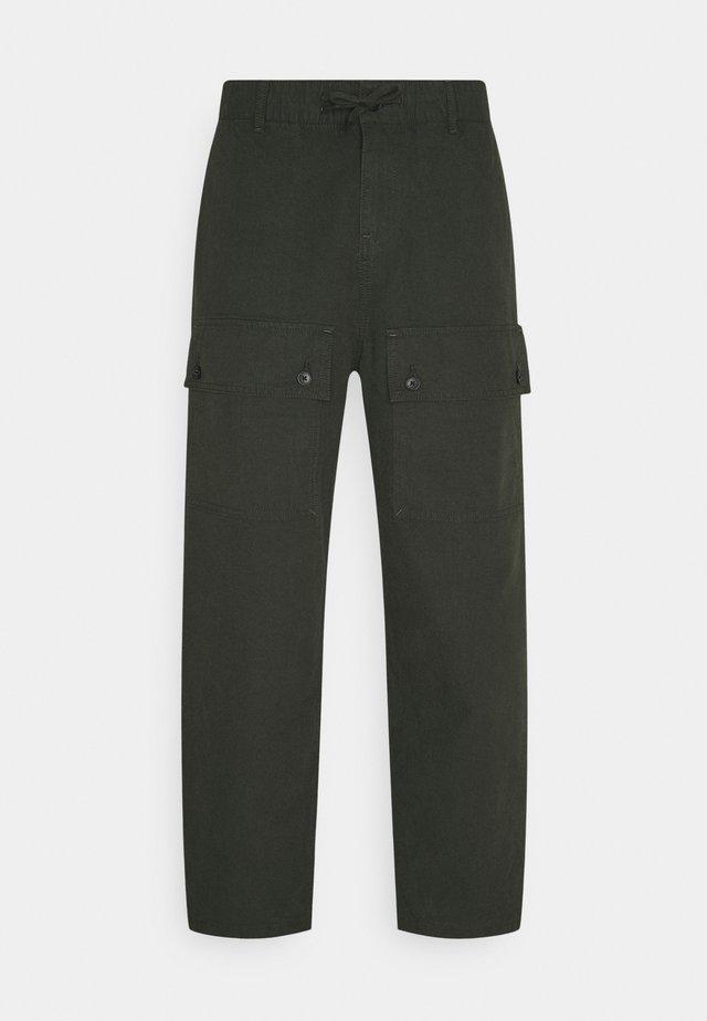 CAESAR CARGO TROUSERS UNISEX  - Cargo trousers - khaki green