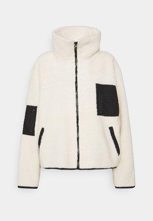 BIGGIE ZIP THROUGH JACKET - Fleece jacket - pastry/black