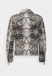 John Richmond - JACKET OBOISE - Kožená bunda - light grey/grey - 1