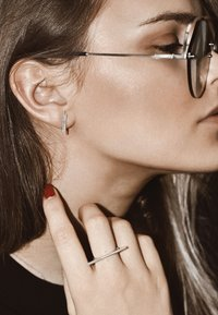 No More - DOUBLE PIPE  - Earrings - silver - 0