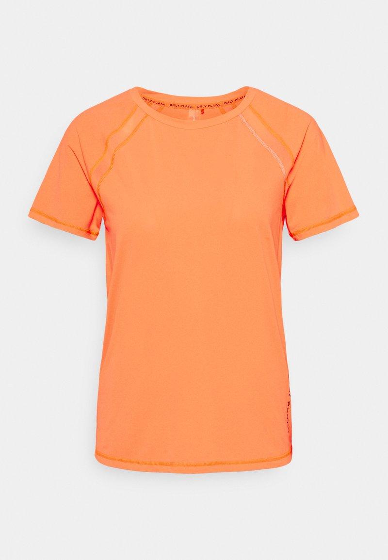 ONLY Play - ONPPERFORMANCE TRAINING LOOSE - T-shirt basic - sunset orange/black