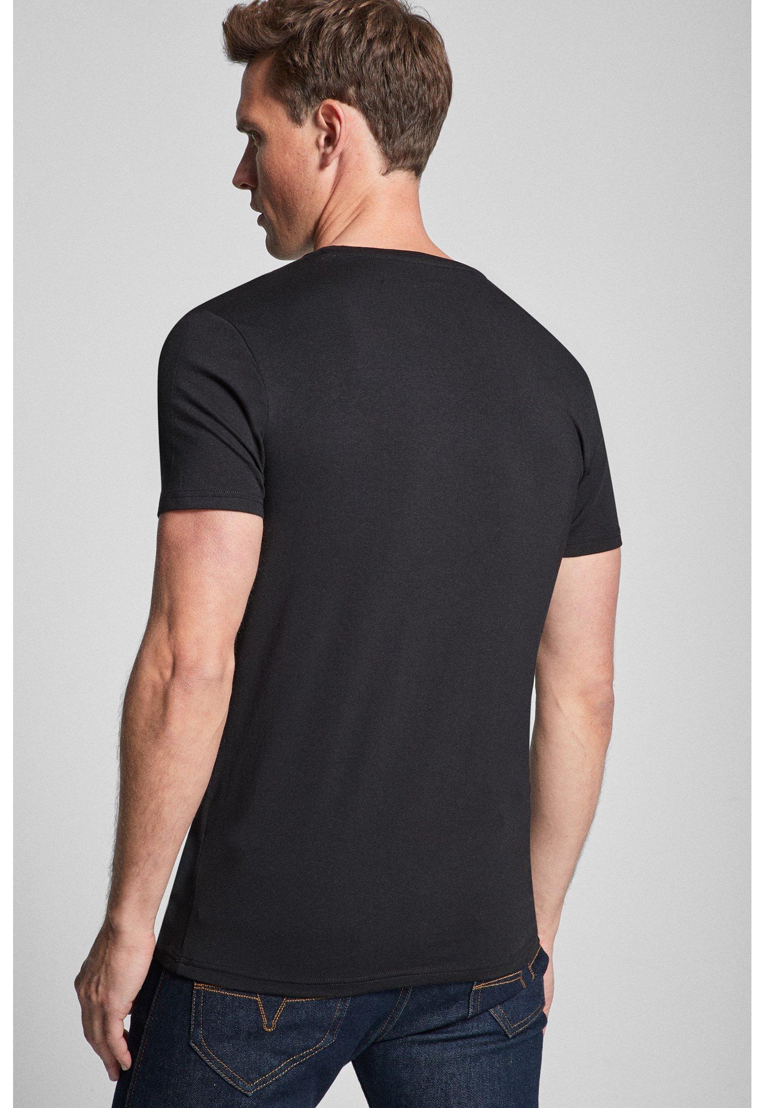 JOOP! 2ER-PACK MODAL COTTON STRETCH - Basic T-shirt - black txICB