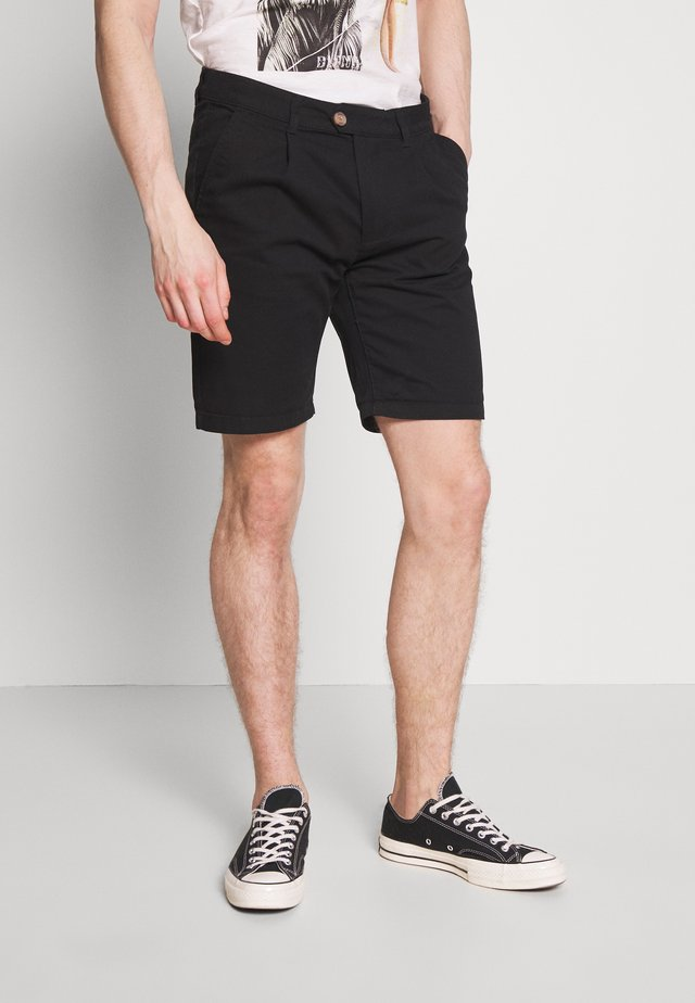 MENS BASIC CHINO - Szorty - black