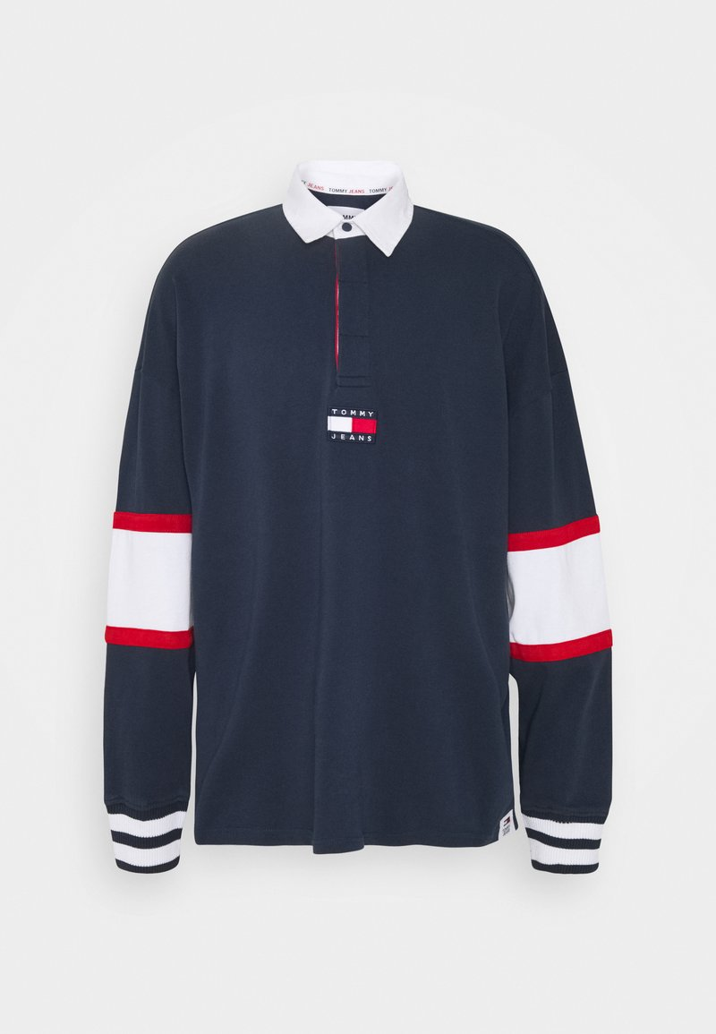 Tommy Jeans - BADGE RUGBY - Neule - twilight navy