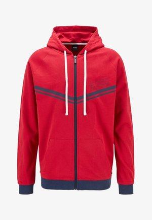 veste en sweat zippée - red