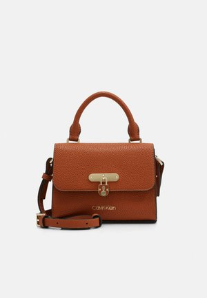 FLAP TOP HANDLE - Handbag - brown