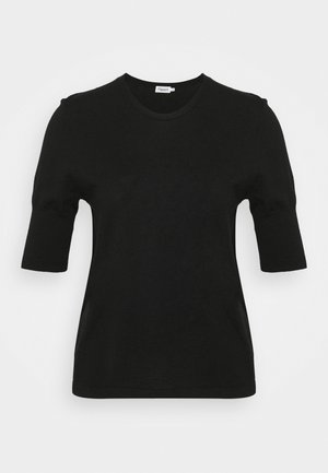 CLAIRE ELBOW SLEEVE - Basic T-shirt - black