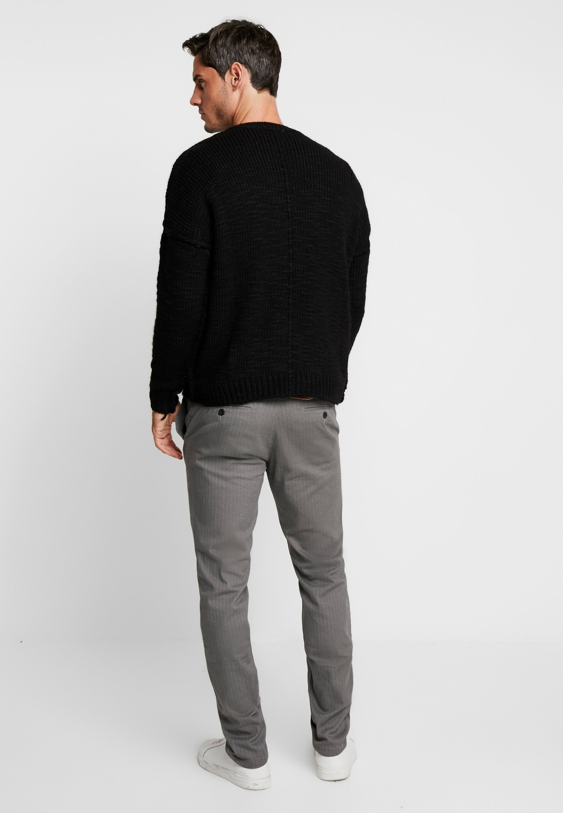 Nike Sportswear Sweatshirt - black/white/svart - Herr Vinterkläder 3Tvw9