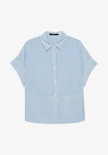 Button-down blouse - blau
