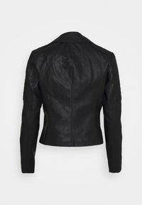 Noisy May Petite - NMREBEL - Faux leather jacket - black - 6