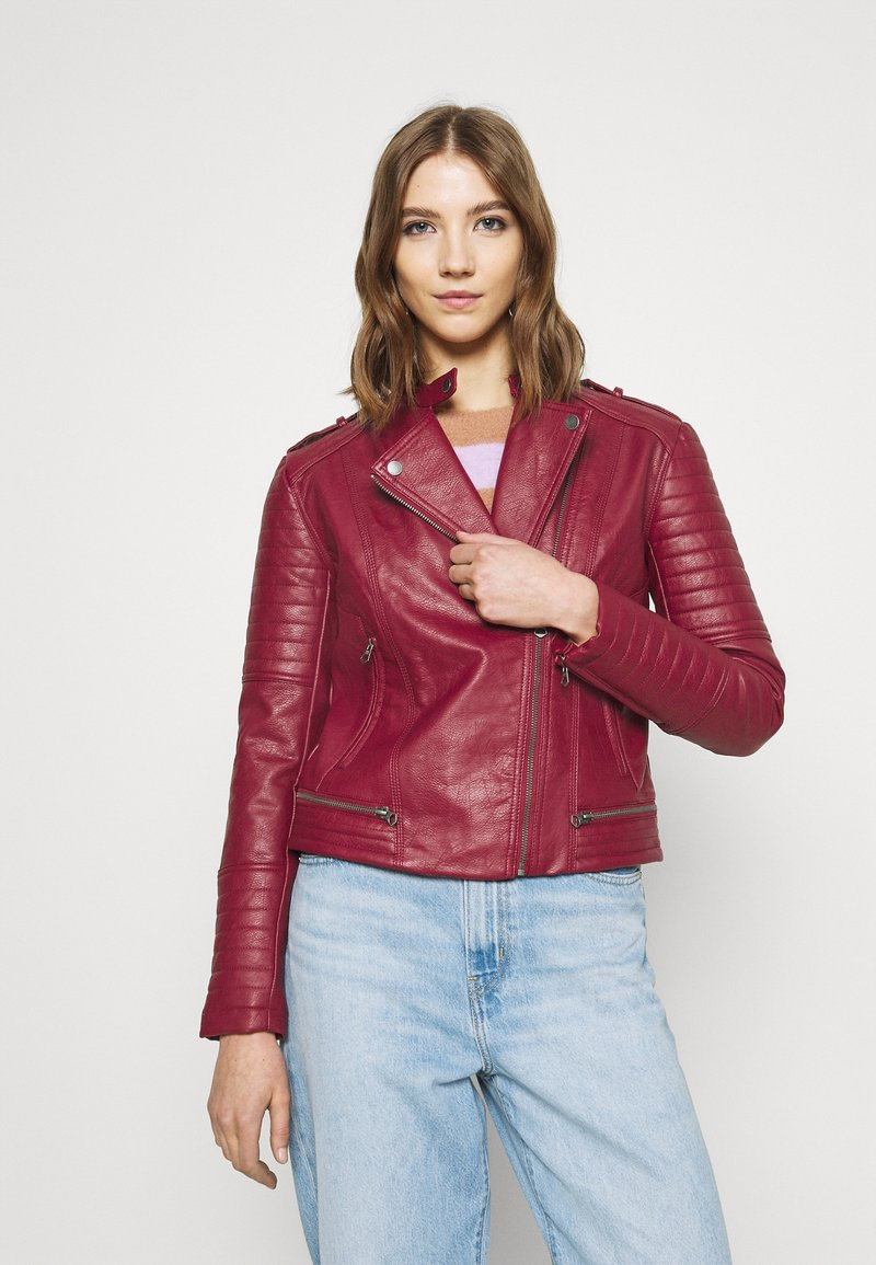 Pepe Jeans - LENNA - Faux leather jacket - currant