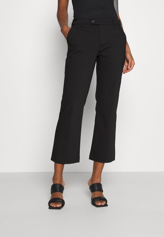 ALICE CROPPED FLARE PANT - Bukser - black