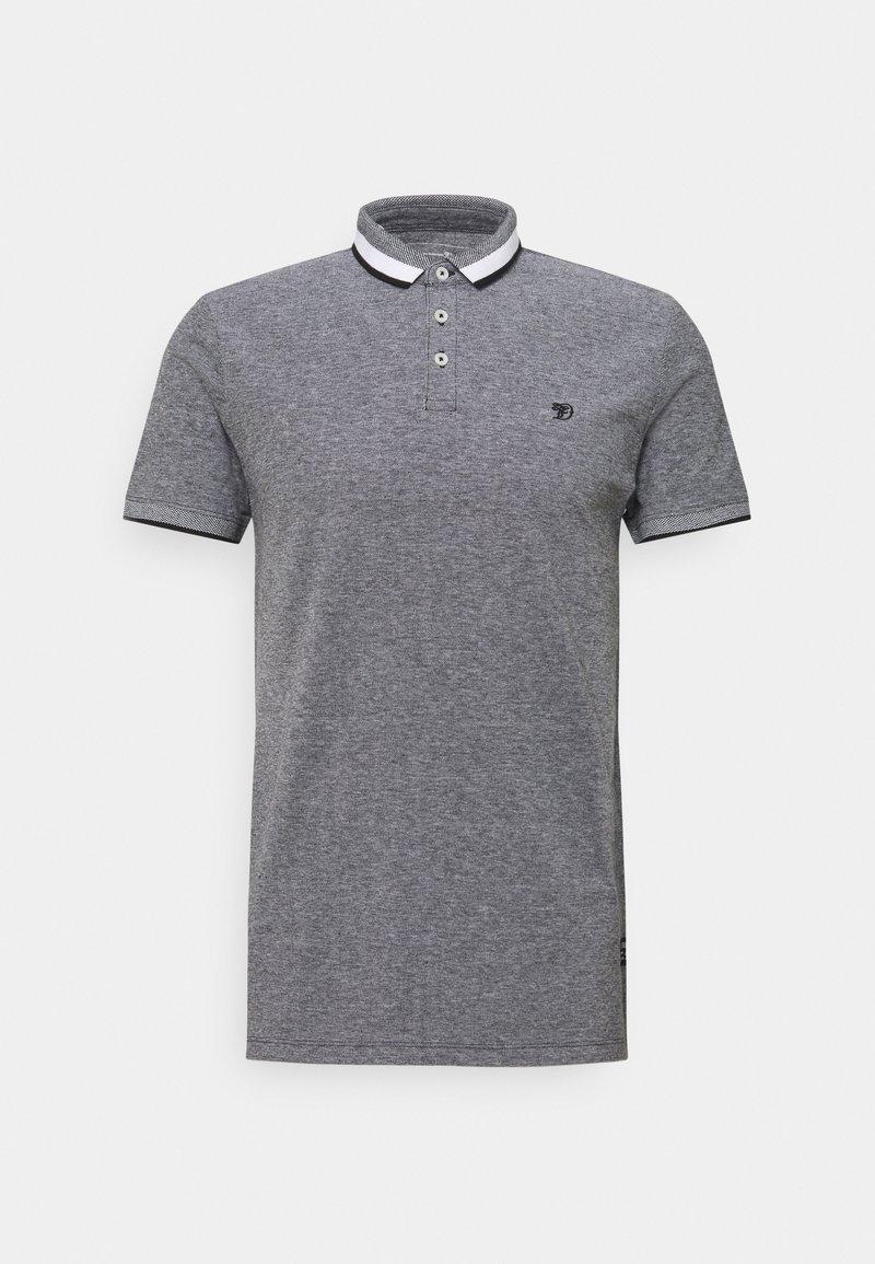 TOM TAILOR DENIM - TWO TONE EFFECT - Polo shirt - black melange