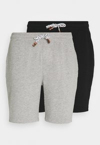 EXCLUSIVE 2 PACK - Shorts - black/light grey