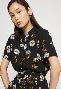 Vero Moda - VMMELLIE LONG SHIRT DRESS - Shirt dress - black/mellie - 3