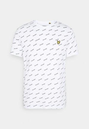 LOGO PRINT - T-shirt med print - white