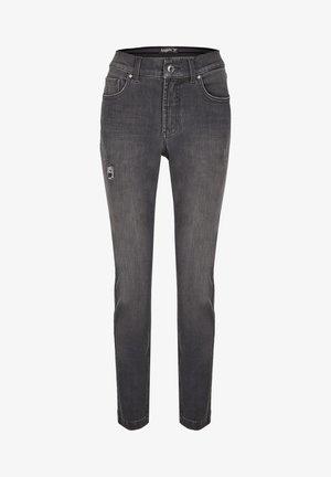 TAMA DESTROYED - Straight leg jeans - grey denim