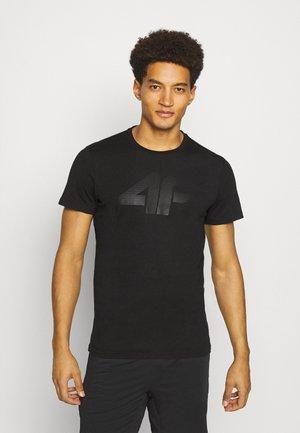HERREN FLEMMING - Print T-shirt - black