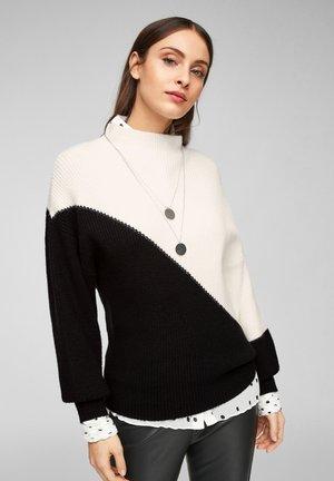 Jumper - black/cream knit