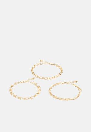 PCJYNNI BRACELET 3 PACK - Armband - gold color