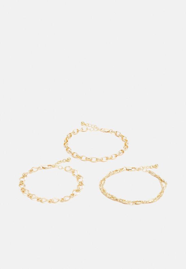 PCJYNNI BRACELET 3 PACK - Bracelet - gold color