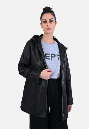 ALBERTA - LEATHER JACKET - Leather jacket - black