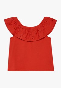 Abercrombie & Fitch - BUTTON THRU - T-shirt print - red - 1