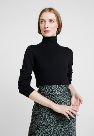 ANNEMARIE ROLL NECK - Jumper - black