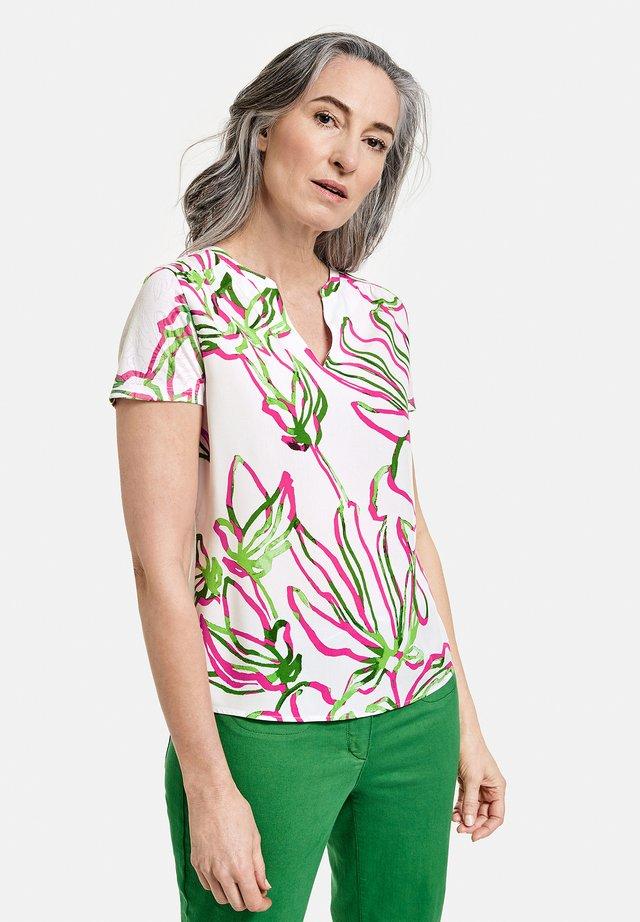 1/2 ARM - T-shirt med print - weiß azalea palm druck