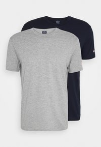 Champion - LEGACY CREW NECK 2 PACK - Basic T-shirt - dark blue/grey