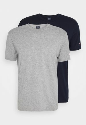 LEGACY CREW NECK 2 PACK - T-shirts - dark blue/grey