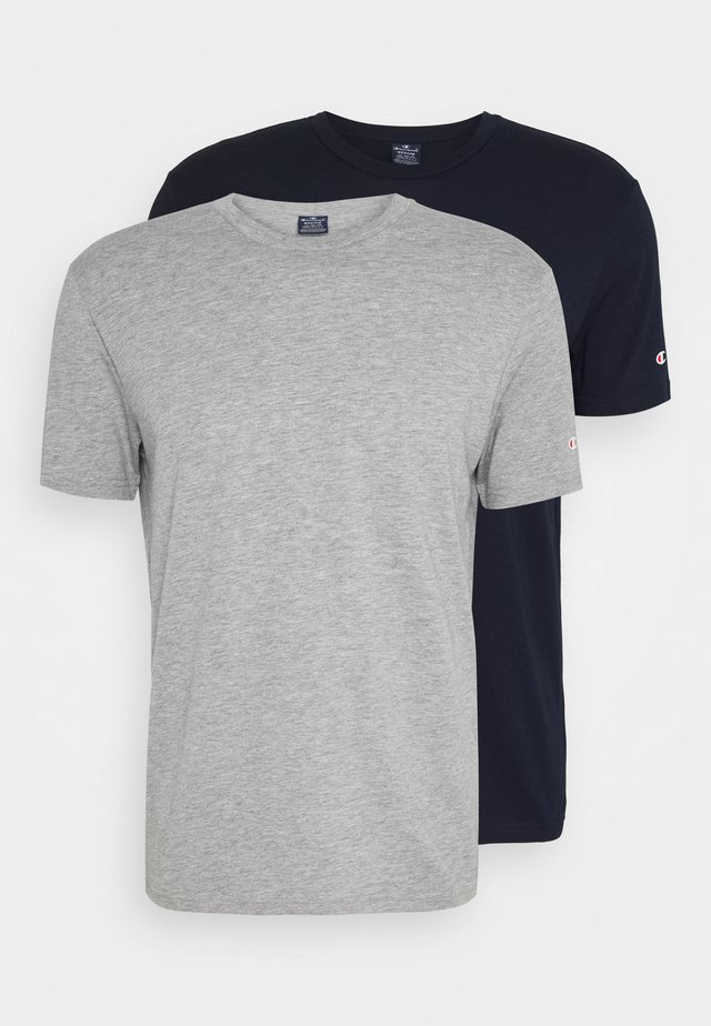 LEGACY CREW NECK 2 PACK - T-shirts basic - dark blue/grey