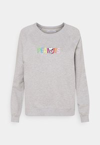 Dedicated - YSTAD RAGLAN PEANUTS LOGO - Sweatshirt - grey melange - 0