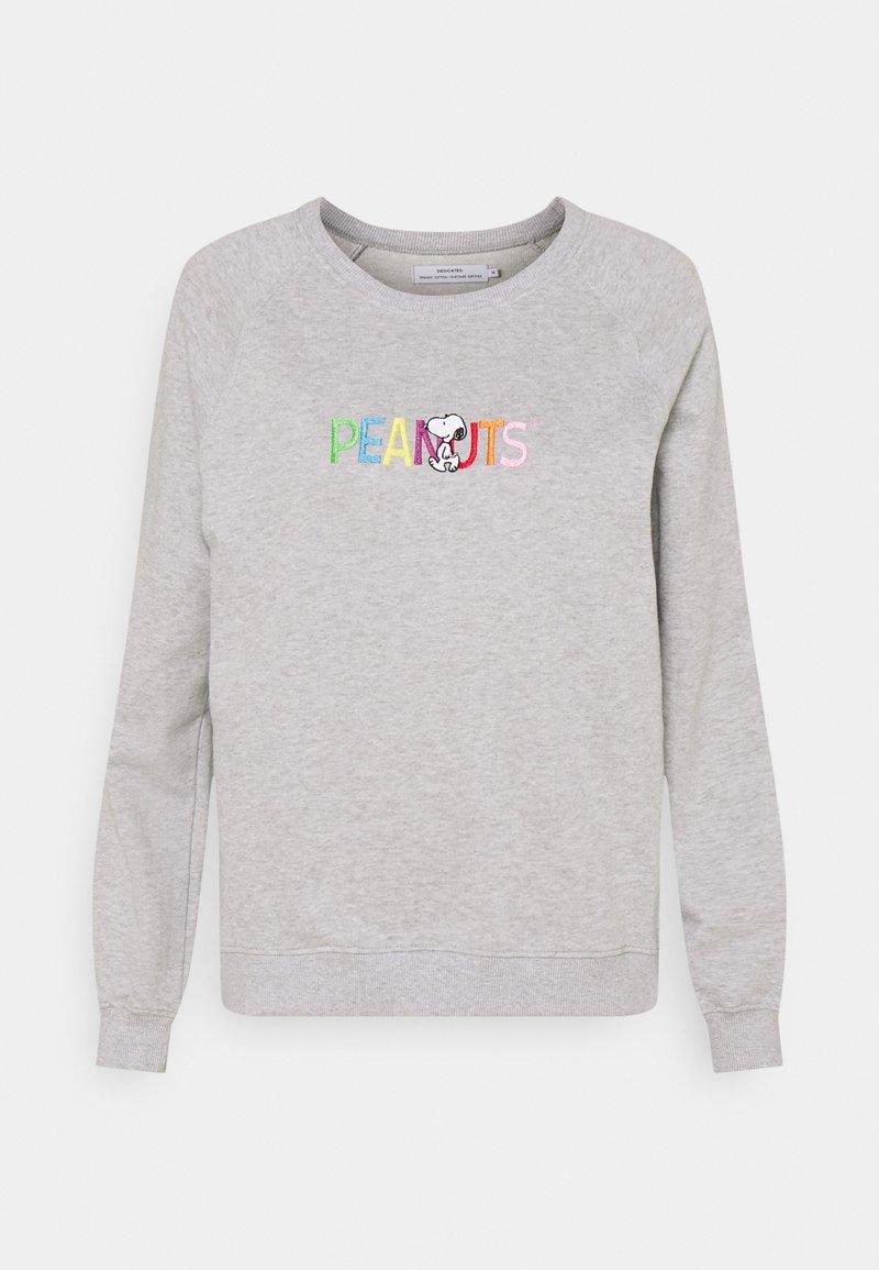 Dedicated - YSTAD RAGLAN PEANUTS LOGO - Sweatshirt - grey melange