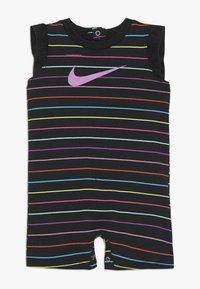 Nike Sportswear - RETRO STRIPE ROMPER BABY - Jumpsuit - black/fire pink - 0